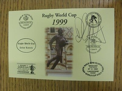 1999 Rugby World Cup Postcard: Hand Signed By Garforth, Darren [World Cup 'Relay