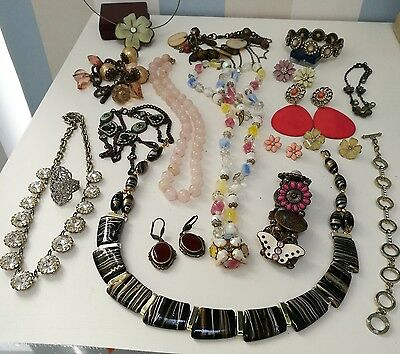 Job Lot Vintage Jewellery, Lovely Pretty Floral Sparkling Selection Daisies