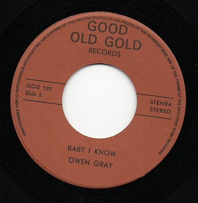 Hear - Owen Gray - Baby I Know - Rare Mod/northern/r&b - Good Old Gold Ex