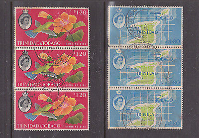 Trinidad And Tobago Collection. Strip Of 3 Of $1.20 And $4.80 Values.