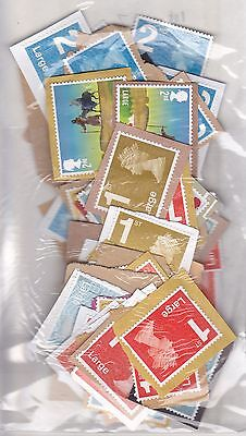 GB COLLECTION. MINT NO GUM UNFRANKED STAMPS. 1st and 2nd large.