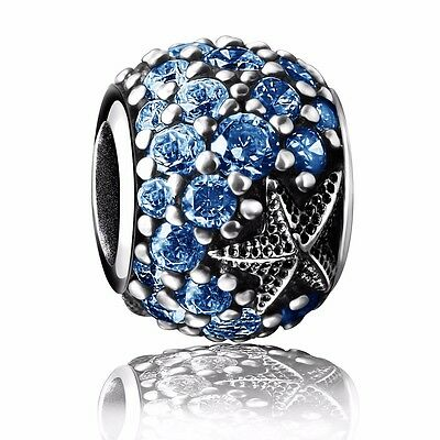 European Blue Jewelry Silver Charms Bead Fit 925 Sterling Bracelets Bangle