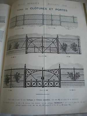 vintage catalogue 1922 Nestor rembaux chain link fencing gates and grills