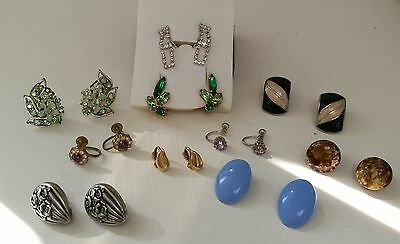 JOB LOT VINTAGE CLIP ON EARRINGS inc BSK & AVON x 10 PAIRS IN LOVELY  CONDITION