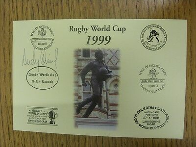 1999 Rugby World Cup Postcard: Hand Signed By Nicol, Andy [World Cup 'Relay Laun