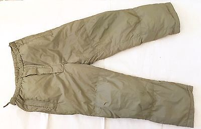 NEW British Army-Issue Light-Olive PCS Thermal Trousers. Small Size.
