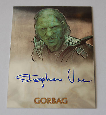 The Lord Of The Rings Trilogy Topps Chrome Stephen Ure Authentic Autograph Card