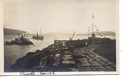 Great Chile Puerto Corral Real Photo Postcard. C1920
