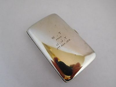 Good Quality Antique Asprey Sterling Silver Wwi Cigarette Case
