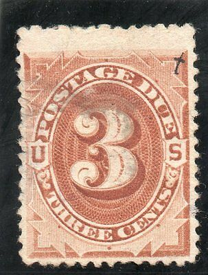 USA - Postage Dues - J17 - 3c Red Brown - Used - CV $250