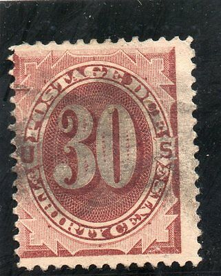 USA - Postage Dues - J20 - 30c Red Brown - Used - CV $55