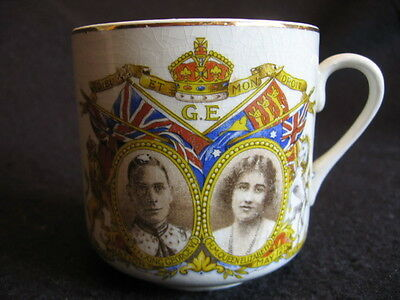 VINTAGE CORONATION MUG for GEORGE VI QUEEN ELIZABETH May 12th 1937