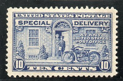 USA - Special Delivery - E12 - 10c Ultramarine - Hinged Mint - CV $40