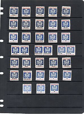 USA - Officials - 1983 onwards x 34 - Non Hinged Mint