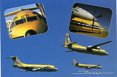 Tat - Metro - Fokker F-28 & F-27 - Formation Flight  - Postcard