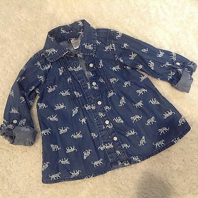 Gymboree Denim Shirt Sz 4 Blue Jean Kids
