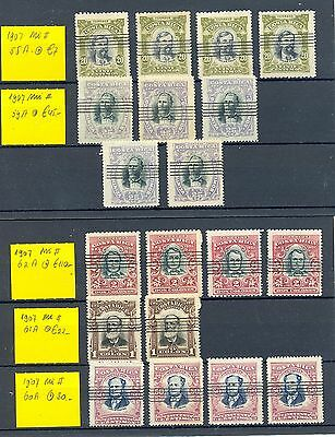 Costa Rica  1907  19 Stamps  Mi# Cv $ 1190  Used By Cto Postmark