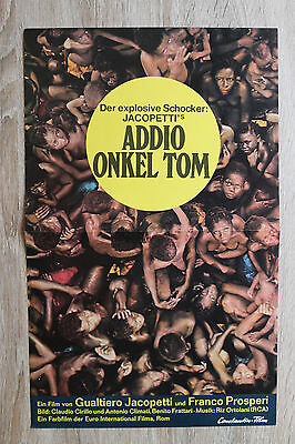 orig Kino Plakat - Gualtiero Jacopetti - Addio Onkel Tom 1971 Sklaverei Film !!