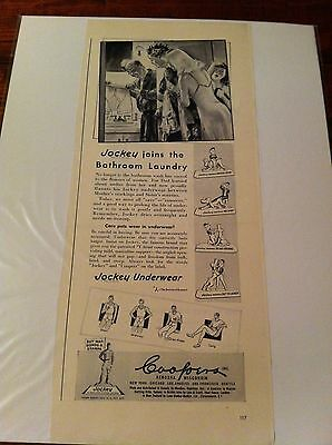 Vintage 1949 Jockey Underwear Joins The Bathroom Laundry Mother Daughters ad