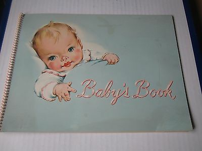 Vintage Boy Baby's Book  First Year Record - 1949