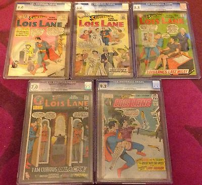 Superman's Girlfriend Lois Lane CGC 5 Issues 25 37 100 106 117