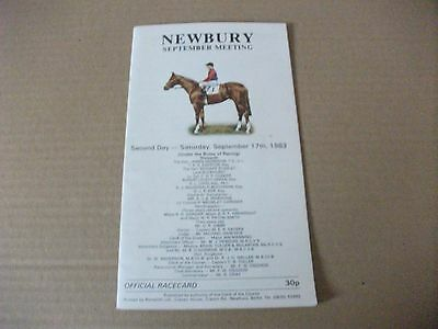 NEWBURY RACE CARD SEPTEMBER 17th, 1983 - THE MILL REEF STAKES + JUPITER ISLAND