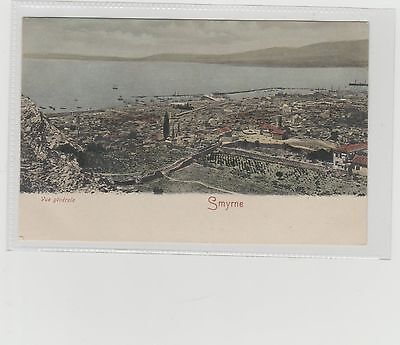 Greece Smyrne General Panoramic View Vignette/Court Postcard Unposted c1900/05