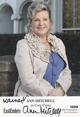 Ann Mitchell as Cora Cross Eastenders Hand Signed Cast Card Photo