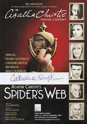 Catherine Shipton of Casualty Agatha Christie Spiders Web Signed Theatre Flyer