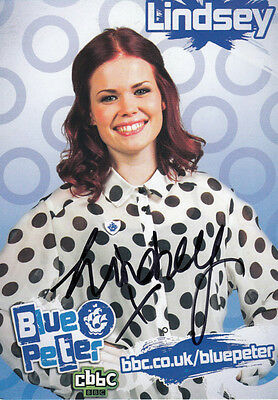 Lindsey Russell of Blue Peter TV Show Hand Signed Cast Card Photo