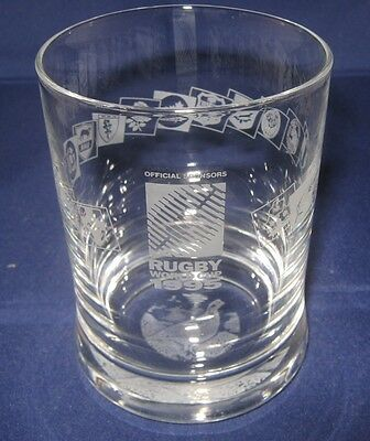 The Famous Grouse 1995 Rugby World Cup Whiskey Glass - Rare
