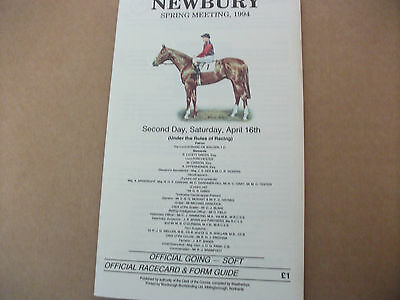Newbury April 16Th,1994 - The Greenham Stakes - Turtle Island & John Reid
