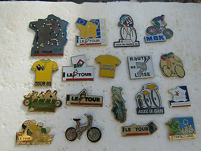 Lot De 18 Pin's Tour De France Velo Cyclisme