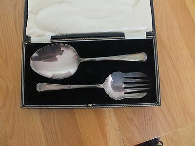 Set Of Antique  Cased Silver Plated Servers Francis Howard C 1870