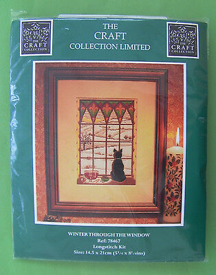 Craft Collection 'Winter Through The Window' Longstitc Embroidery Kit.