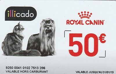 Carte cadeau  # ROYAL CANIN # (FRANCE) Gift Card  Geshenkkart