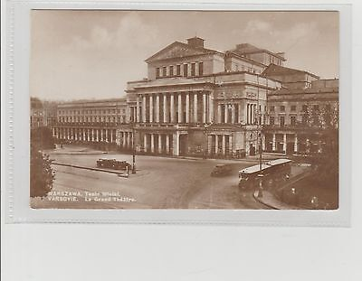 Poland Warsaw The Grand Theatre Real Photograph Postcard Unposted c1910/20s