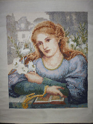 Completed Counted Cross Stitch Rossetti