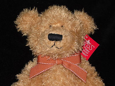 With Tags Russ Berrie Brawson Teddy Bear Soft Toy Brown Comforter Doudou