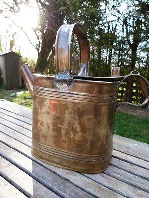 Lovely Antique Solid Brass Watering Can.