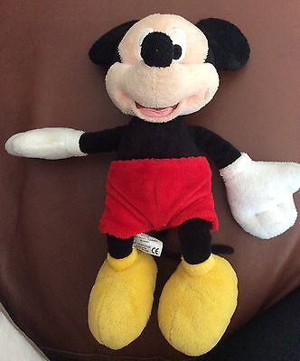 Disney tradditonal Mickey Mouse soft toy 13 inches tall from the Disney store