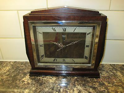 Smiths Sectric Mantel clock, Deco style,  circa 1950s.