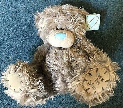 Tatty Teddy Me to You Plain Grey Bear With Tags VGC