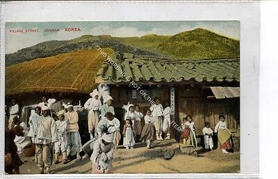 (Ga8467-477) Village Street, Chusan, South Korea c1910 VG-EX