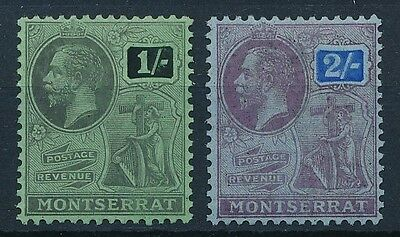 [54684] Montserrat 1922-26 lot of 2 good MH Very Fine stamps