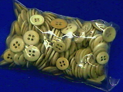 240 Antique Bone Buttons-all with 4 holes, and excellent condition-11/16ths