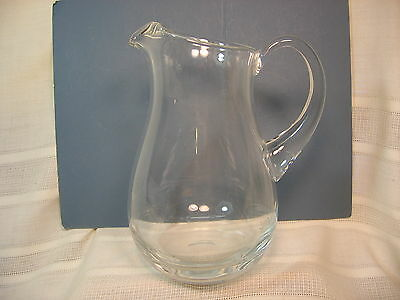 Hand Blown Clear Glass Water Pitcher