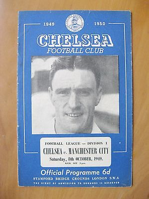 CHELSEA v MANCHESTER CITY 1949/1950 *Good Condition Football Programme*