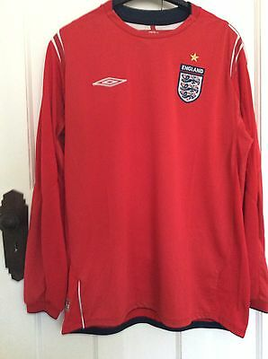 Adult England FC Long Sleeved Football Shirt Size Large