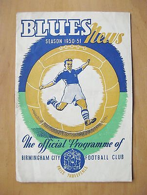 BIRMINGHAM CITY v GRIMSBY TOWN 1950/1951 *Good Condition Football Programme*